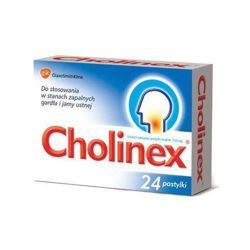 Cholinex 24 pastyl. do ssania